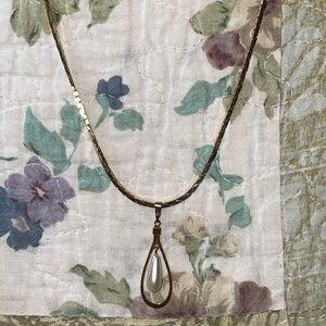 American Showcase Gold Cobra Chain Pearl Necklace